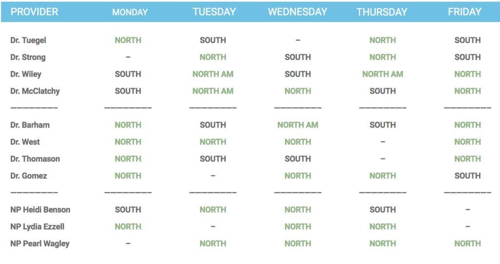 Provider-Schedule-Abilene-Pediatric